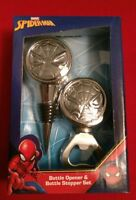 Marvel Spider Man Bottle Opener & Bottle Stopper Set