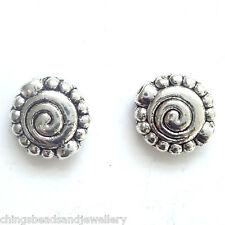20 Disco de 10 mm de plata tibetana espaciador granos fabricación de joyas