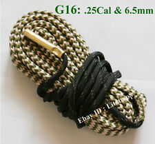 New Bore Snake Cleaning Boresnake Barrel Rifle Cleaner for .25 Cal .264 & 6.5mm