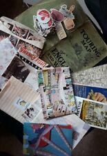 Stationery bundle vintage ephemera penpalling paperchase stickers scrapbooking