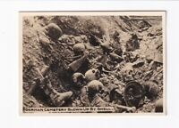 Foto 1. Weltkrieg German Cemetary Blown Up By Shell
