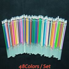 48*Painting Colorful Full Gel Flash Pen Ink Refills Student Supplies Go9