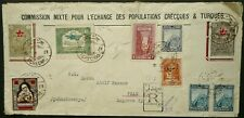TURKEY 1929 REGISTERED COVER FROM TCHCENMS? TO PRAGUE, CZECHOSLOVAKIA - SEE!