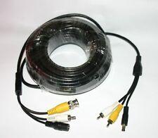 20 Metros Cable De Video Bnc & de Phono RCA conectores y cable de alimentación