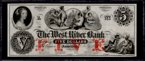"""OBSOLETE $5 18__'s """"Trade Dollar Coin note"""" Jamaica, VT Perfect Uncirculated Con"""