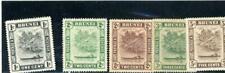 Brunei 1924 Scott# 43-6,51 Mint og Hinged