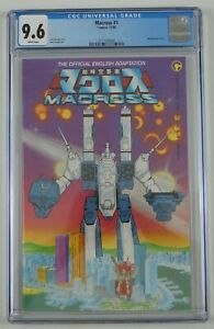 Macross #1 CGC 9.6 - Comico 1984 robotech official adaptation white pages