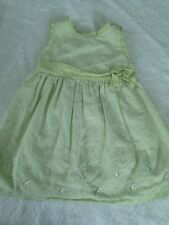 Gymboree baby girl 6-12 months dress green floral embroidered fall spring