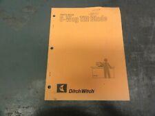 Ditch Witch 6 Way Tilt Blade Parts Book Manual 050 562