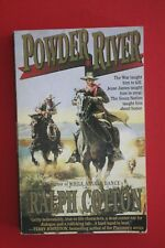 POWDER RIVER by Ralph Cotton, author While Angels Dance - Western (PB, 1996)