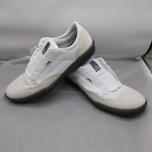 """Vans Off The Wall """"Ave Pro"""" Sneakers (White/Smoke) Skate Shoes Size 11.5 Men's"""