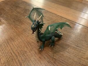 SCHLEICH Mythical Winged GREEN DRAGON 70033 Finely Detailed Monster