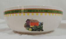 JOHN DEERE MEMORIES by Gibson Cream Green Rim Barn Tractor Word 1 Mixing Bowl