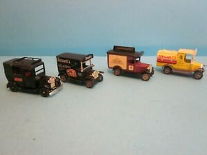 Vintage 4 x Lledo Promotional Vehicles. Good Used Condition.