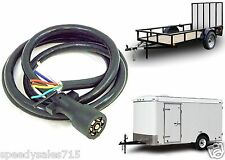 7 Way Blade Molded Trailer Wire 8' Feet Replacement Cable Cord Harness New USA