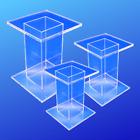 Extra Large Acrylic Pedestal Set of 3