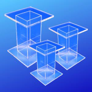 Medium Acrylic Pedestal Set of 3
