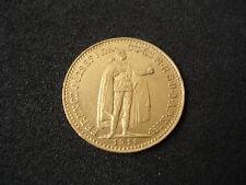 Hungary, 10 Korona, 1911, gold