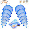 6Pcs Reusable Silicone Stretch Suction Pot Bowl Lids Food Seal fresh Cover Boom