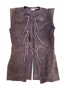 Museum Replicas Limited Medieval Times Genuine Leather Suede Jacket Vest | S