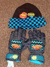 Disney Store Cars Winter Hat And Gloves
