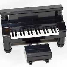 LEGO Furniture: Black Piano & Bench Set w/ Parts & Instructions   [custom,house]