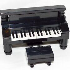 LEGO Furniture: Black Piano & Bench Set w/ Parts & Instructions   [custom,house]