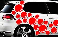 85 Retro Kreise Dots Sterne Auto Aufkleber Sticker Stylin Wandtattoo Blasen ster