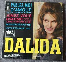 Dalida, parlez moi d'amour + 3, EP - 45 tours import Belgique
