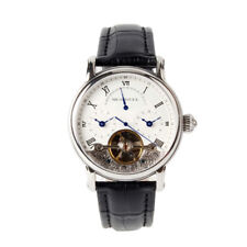 Seagull Dual Time Zone GMT Roman Numerals Flywheel Retrograde Automatic Watch