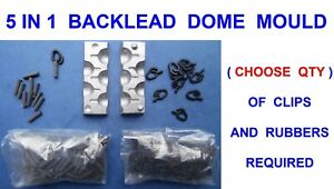 5 IN 1 30g DOME BACKLEAD MOULD FOR CARP FISHING SAFETY CLIP LEAD LINE BACK LEADS