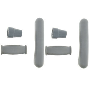 2Set Crutches Accessories Kit Crutch Slip-Resistant Hand Grip&Tip Cover Gray