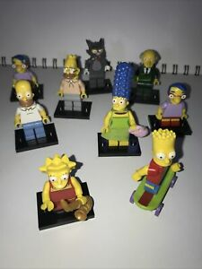 LEGO SIMPSONS Minifigure Collection. 9 Character Bundle Lot Rare Limited Edition