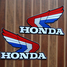 2pc. vintage honda wing logo emblem motor bike decals sticker print die-cut