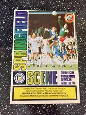 Wigan Athletic v Manchester City. October 1982