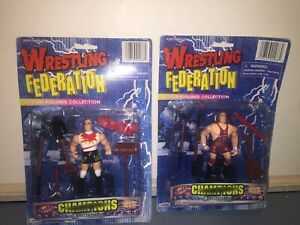 Vintage Wreslting Federation Action Figures Champions Collection Lot Of 2 New