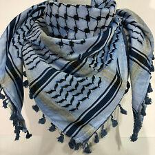 Hirbawi Scarf Arab Shemagh Original Keffiyeh Traditional Blue Brand 100% Cotton