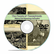 Pennsylvania PA, People and Family Tree History Genealogy 339 Books DVD CD B11