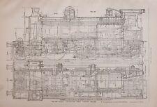 1886 RAILWAY LOCOMOTIVE PRINT MOGUL ENGINE GREAT EASTERN RAILWAY