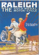 Raleigh The Gold Medal Motor Cycle MODERN postcard by Robert Opie