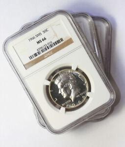1965, 1966, 1967 SMS Kennedy Half Dollars NGC MS66, Brilliant