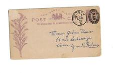 Briefmarken Ganzsache New South Wlaes Australien Sydney Stempel 1890
