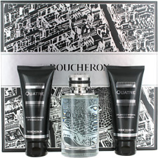 Quatre By Boucheron For Men Set: EDT + After Shave Balm + Shower Gel New