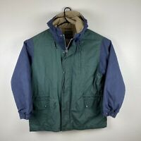 Vintage Ralph Lauren Polo Country Puffer Quilted Jacket Coat Sz L Green Navy