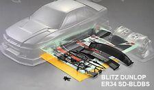1:10  Lexan Body / Karosserie  Nissan Skyline R34 (clear+decals ) Drift