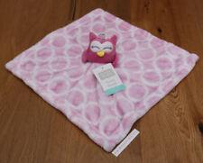 Hudson Baby Girl Plush Security Blanket ~ Pink & White ~ Owl ~