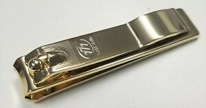 "777 Ultra Wide Toe & Finger Nail Clipper ""Curved"" Gold Made In Korea"