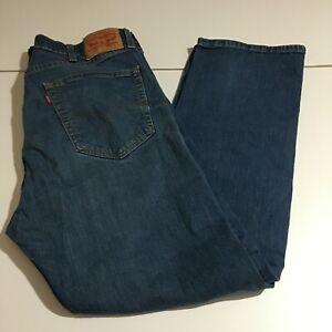 Levi's 505 Regular Fit Straight Leg Mens Jeans Size 38x30 Dark Wash