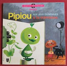 """PIPIOU AUX JEUX OLYMPIQUES / A LA TELEVISION    25 CM 10""""   FRANCOIS RAUBER"""