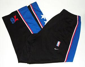 PHILADELPHIA 76ers NIKE 77 Warm Up Pants REWIND 1977 Vtg Sweatpants NBA Mens LG